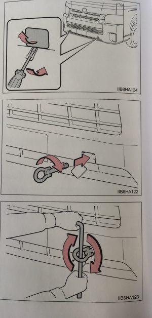 救急車が牽引去れるときの方法