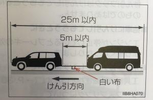救急車の牽引方法