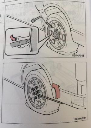 救急車のタイヤの取り外し方